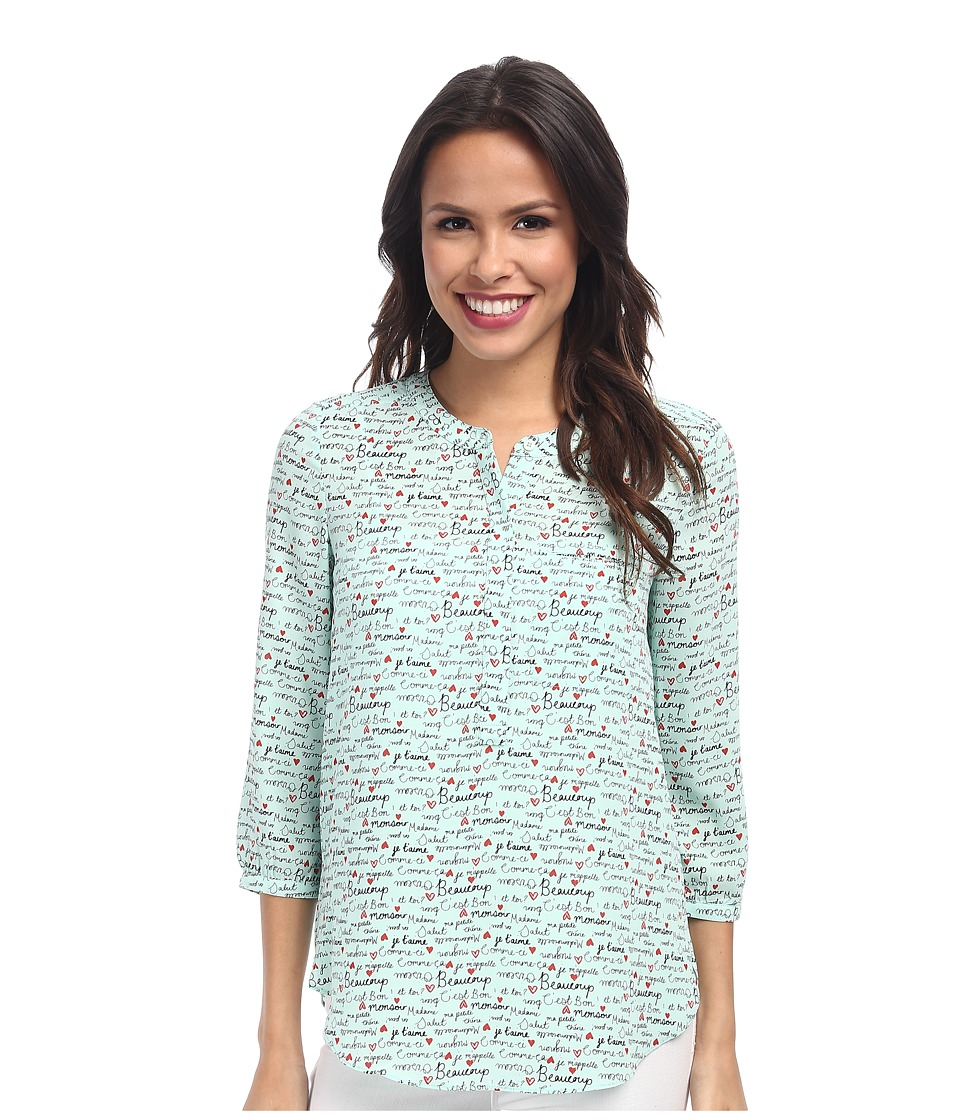 NYDJ - Pardon My French Print (Celadon) Women's Blouse