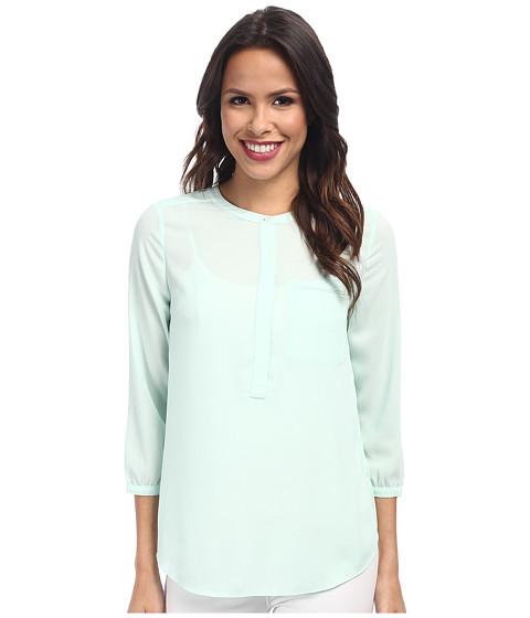 NYDJ - Solid 3/4 Sleeve Pleat Back (Celadon) Women's Blouse