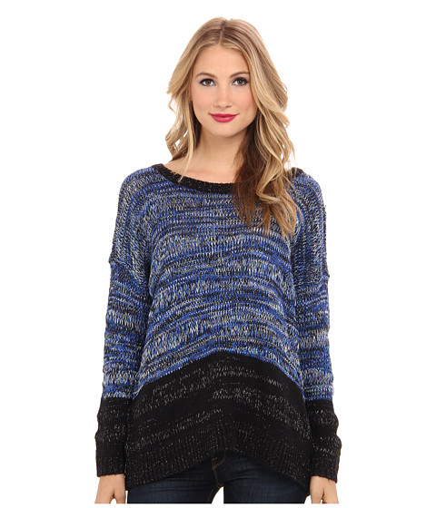 DKNY Jeans - Roadmap Color Block Marled Pullover (Imperial) Women
