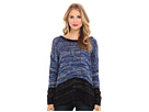 DKNY Jeans Roadmap Color Block Marled Pullover