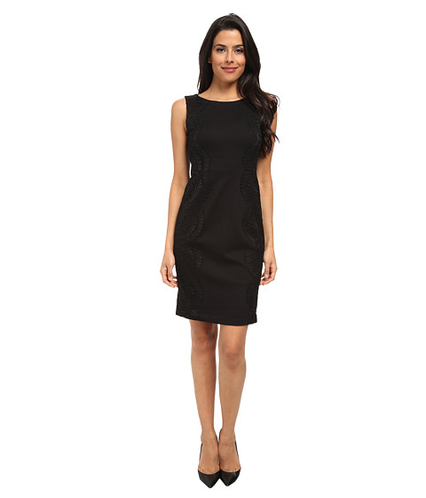 NYDJ - Grace Lace Dress (Black/Black) Women