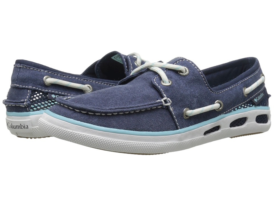 Columbia - Vulc N Vent Boat Canvas (Collegiate Navy/Candy Mint) Women's Shoes