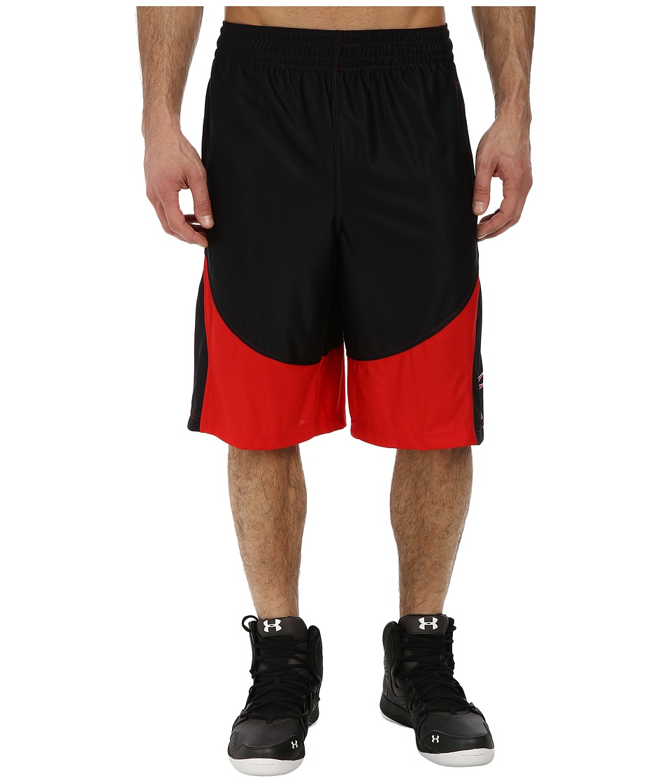 Under Armour - Mo Money 12 Short (Black/Red/Red) Men's Shorts