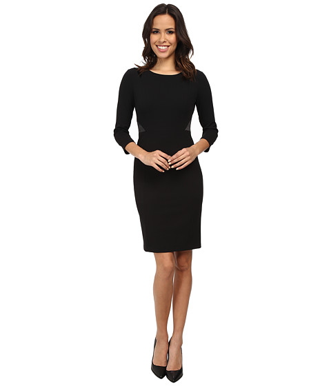 NYDJ - Stretch Crepe Dress (Black/Black) Women's Dress