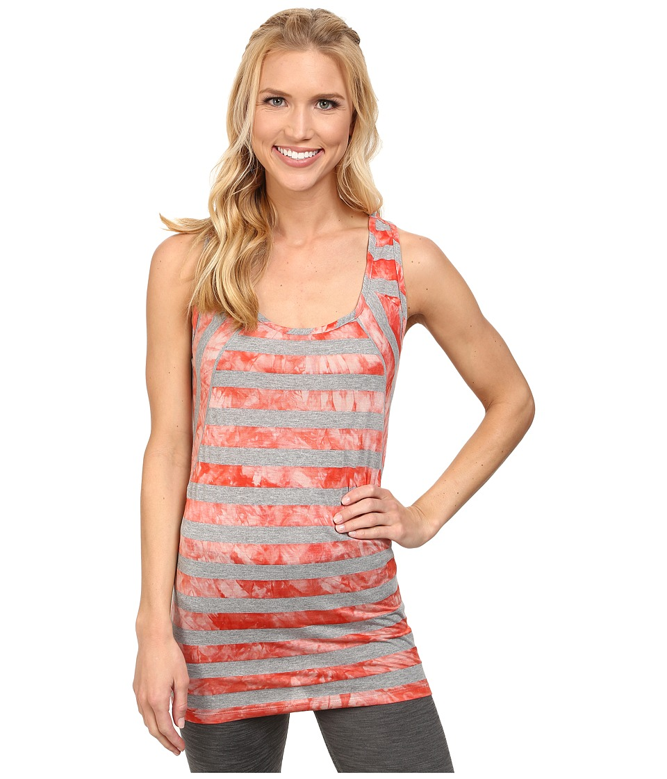 Lole - Dawn Top (Mandarino Stripe) Women's Sleeveless