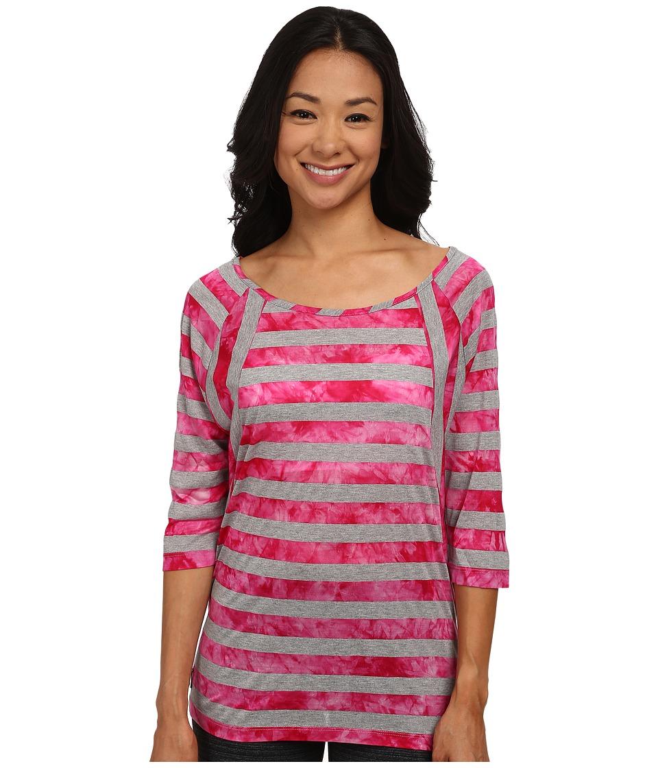 Lole - Alicia Top (Rhubarb Stripe) Women's Long Sleeve Pullover