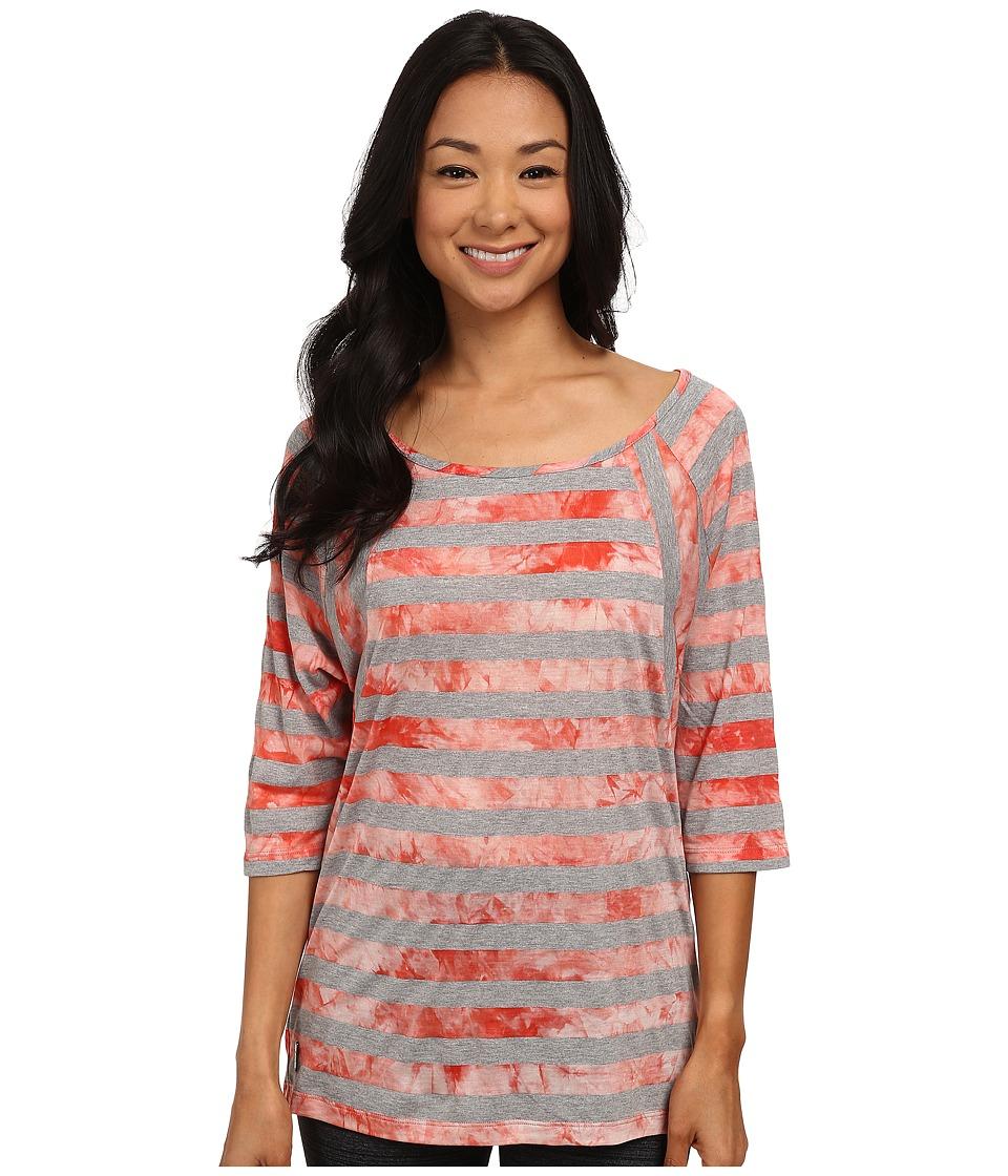 Lole - Alicia Top (Mandarino Stripe) Women's Long Sleeve Pullover