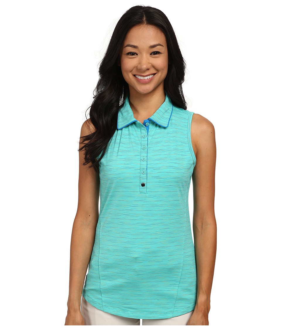 Lole - Astor Polo (Turquoise Mix) Women's Sleeveless