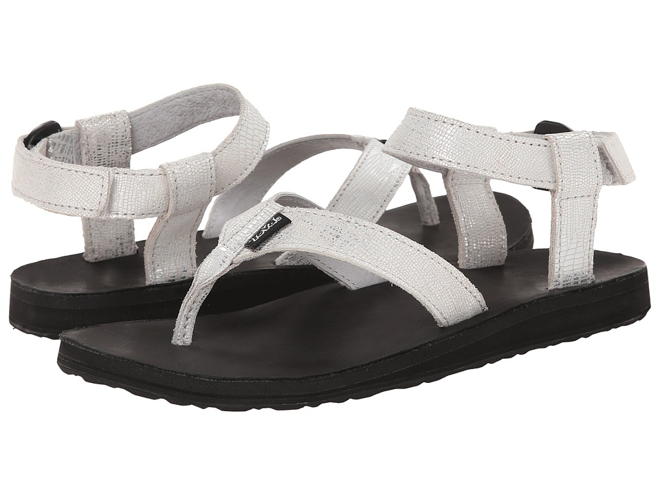 Teva Original Sandal Leather Metallic (Silver) Women