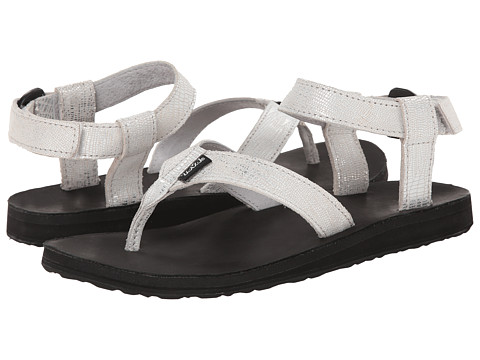 Teva - Original Sandal Leather Metallic (Silver) Women's Sandals