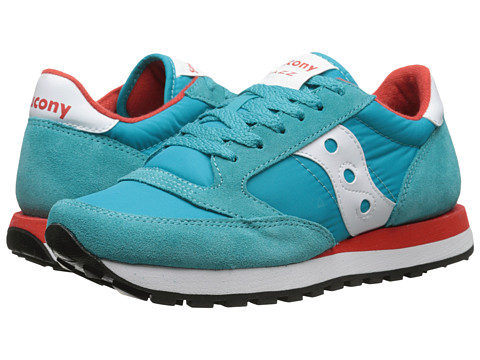 Saucony Originals - Jazz Original (Aqua Blue/Red) Women