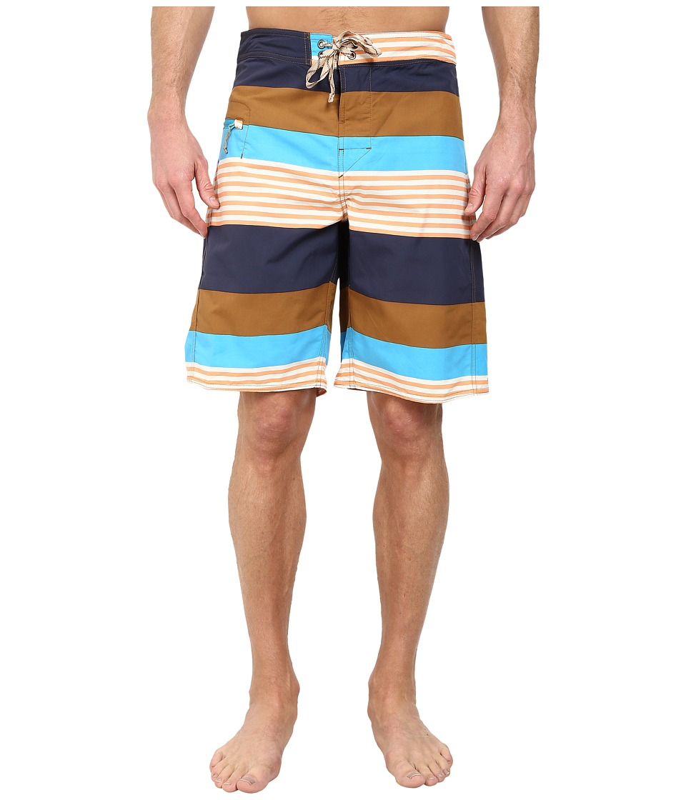 Patagonia - Wavefarer Engineered Boardshorts (Fitz Stripe: Bear Brown) Men's Swimwear