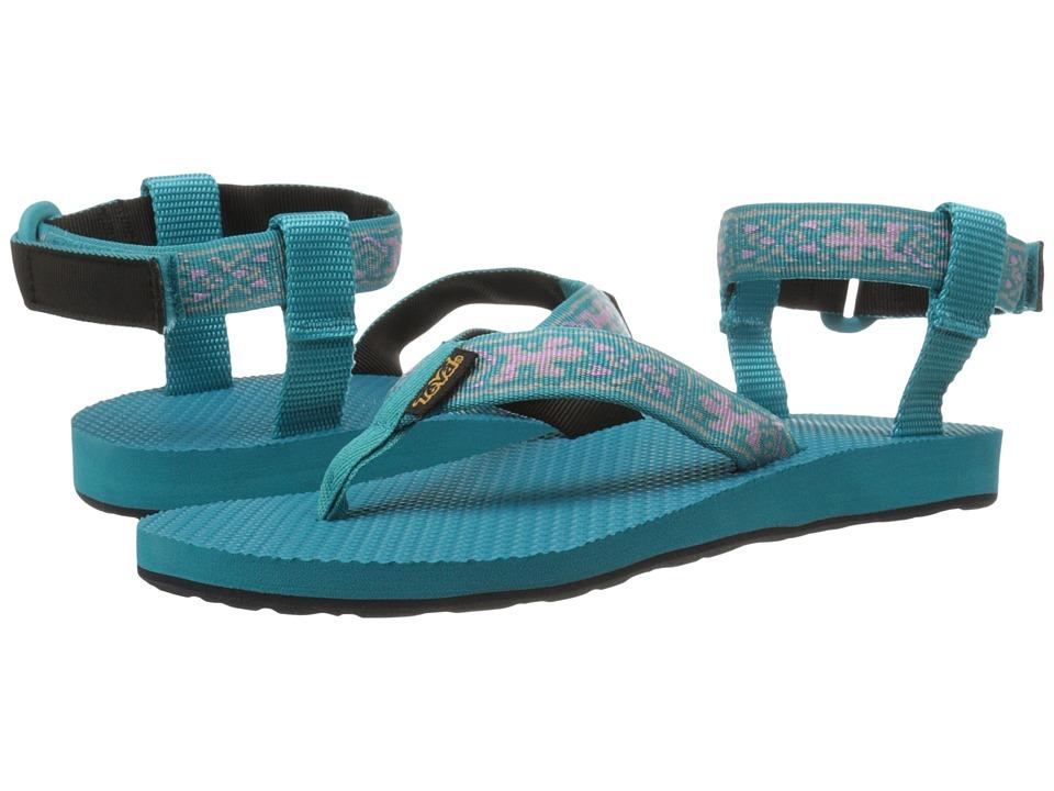 Teva - Original Sandal (Old Lizard Lake Blue) Women's Sandals