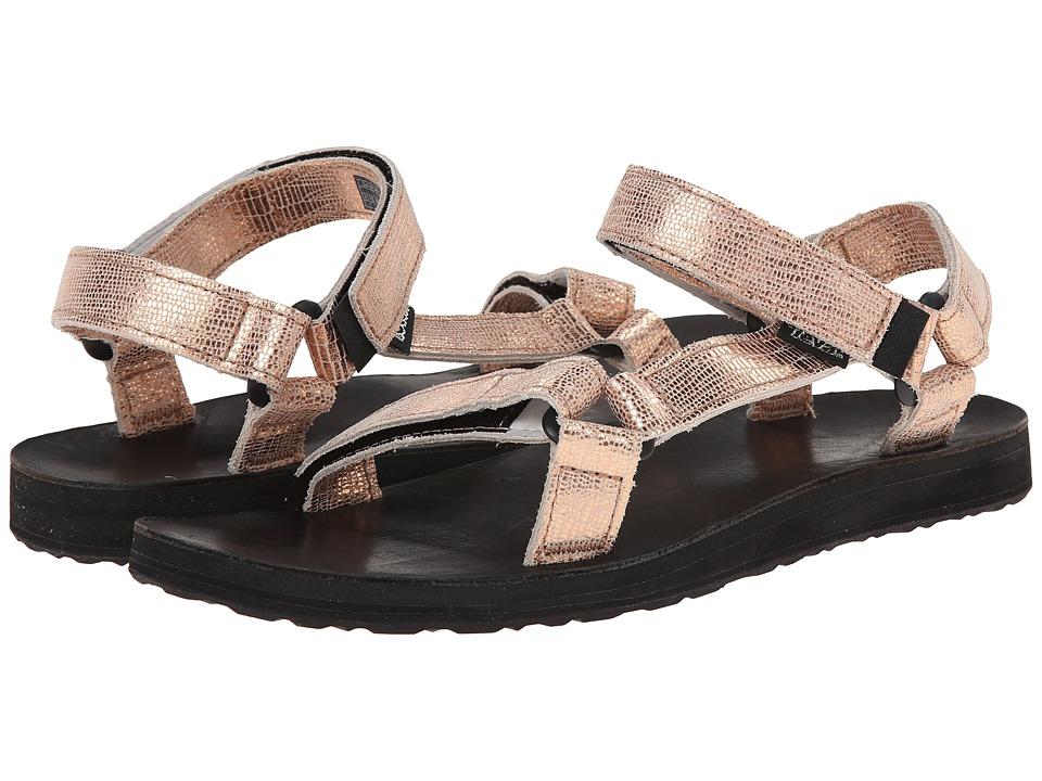 Teva - Original Universal Leather Metallic (Rose Gold) Women's Sandals