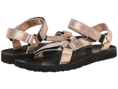 Teva - Original Universal Leather Metallic (Rose Gold) Women's Sandals