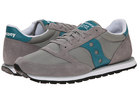 Saucony Originals - Jazz Low Pro (Grey/Teal) Men