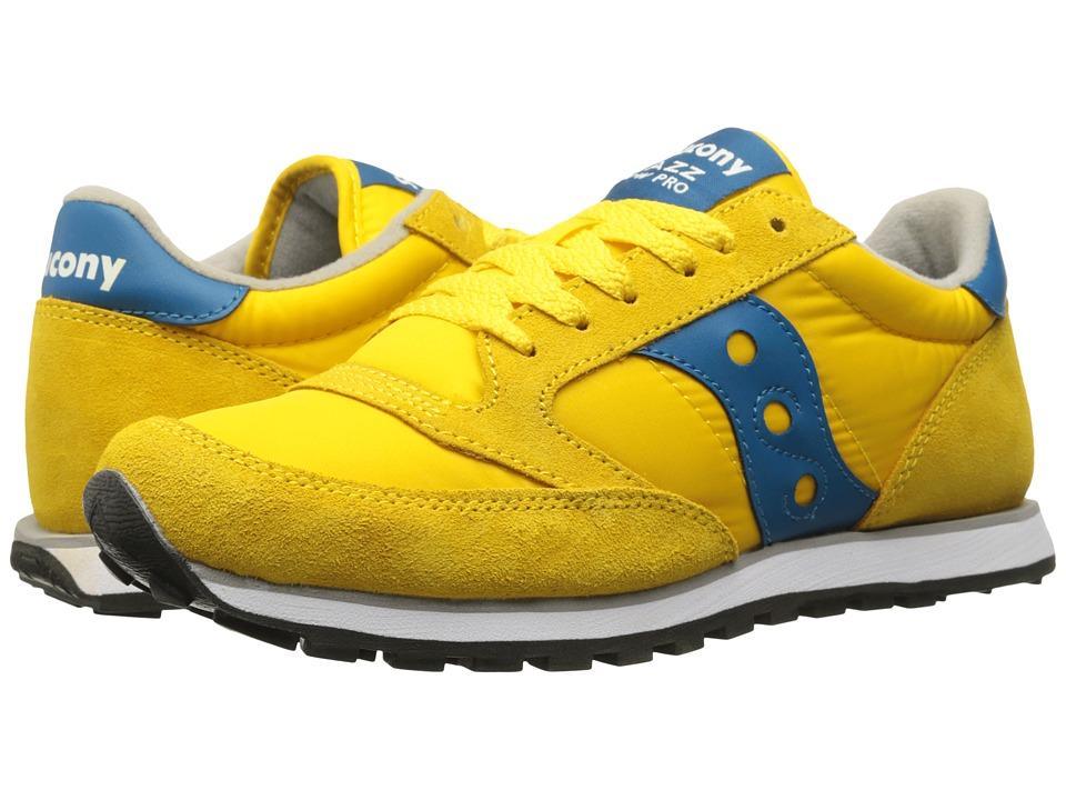 Saucony Originals - Jazz Low Pro (Yellow/Blue) Men's Classic Shoes