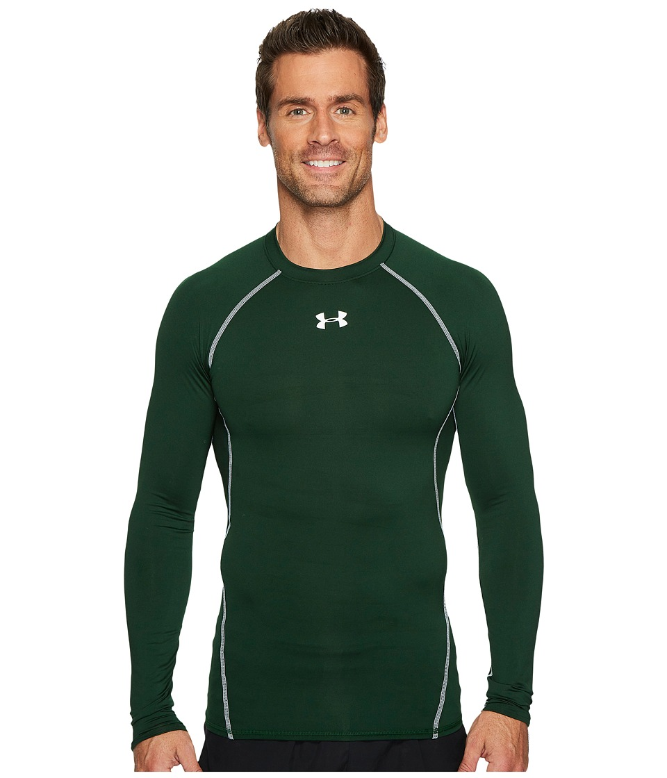 Under Armour Armour(r) Heatgear(r) L/S Compression (Forest Green/White) Men