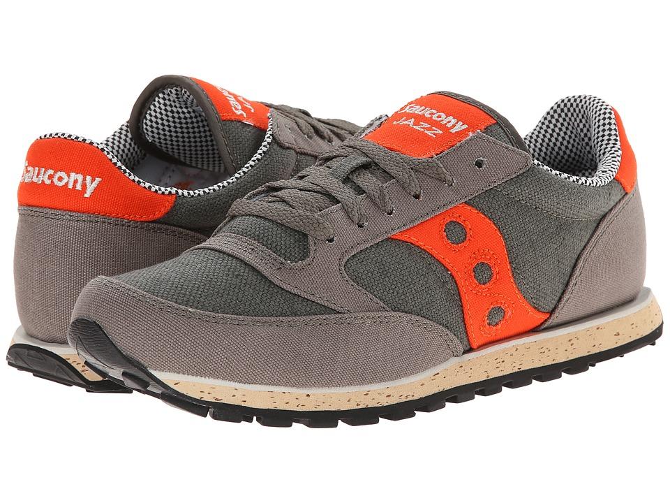 Saucony Originals - Jazz Low Pro Vegan (Charcoal/Red) Men's Classic Shoes