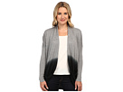 DKNY Jeans Dip Dye Two-Pocket Cardigan (Smoke Grey Heather)