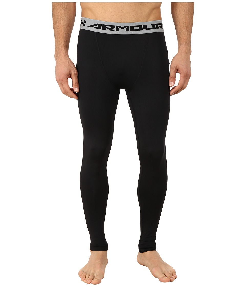 Under Armour - Armour(r) Heatgear(r) Compression Legging (Black/Steel) Men's Workout
