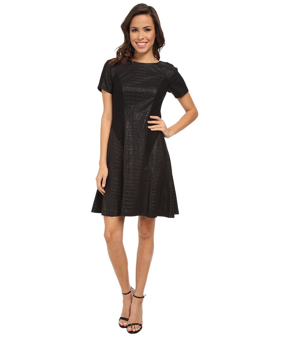 Donna Morgan - Boatneck Raglan (Black) Women's Dress