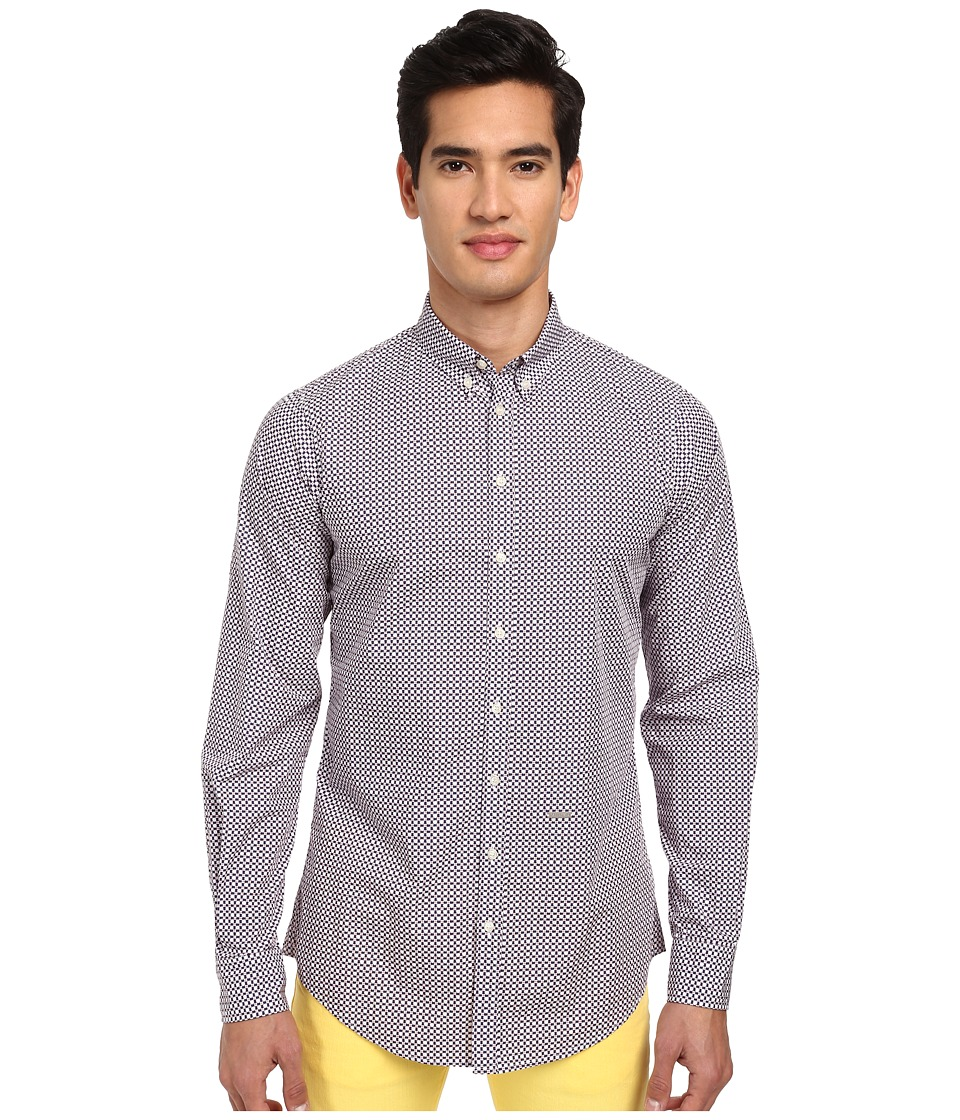 DSQUARED2 - Fantasy Button Up (White Multi) Men's Long Sleeve Button Up