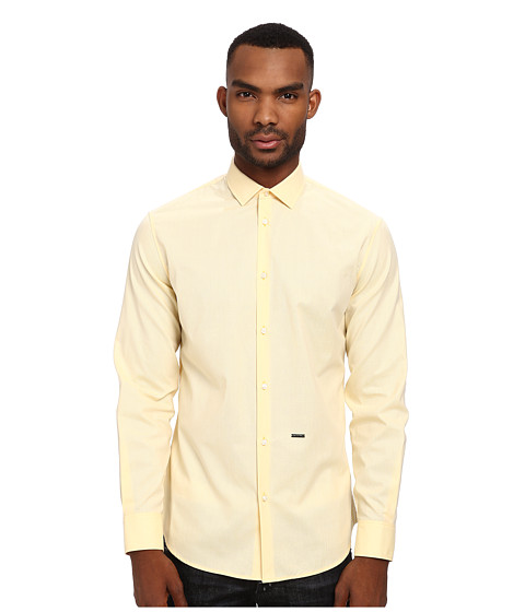 DSQUARED2 - Fil a Fil M. B. Button Up (Yellow) Men