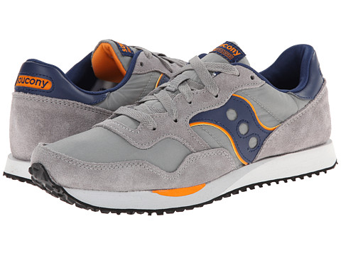 Saucony Originals - DXN Trainer (Grey/Navy) Men's Lace up casual Shoes