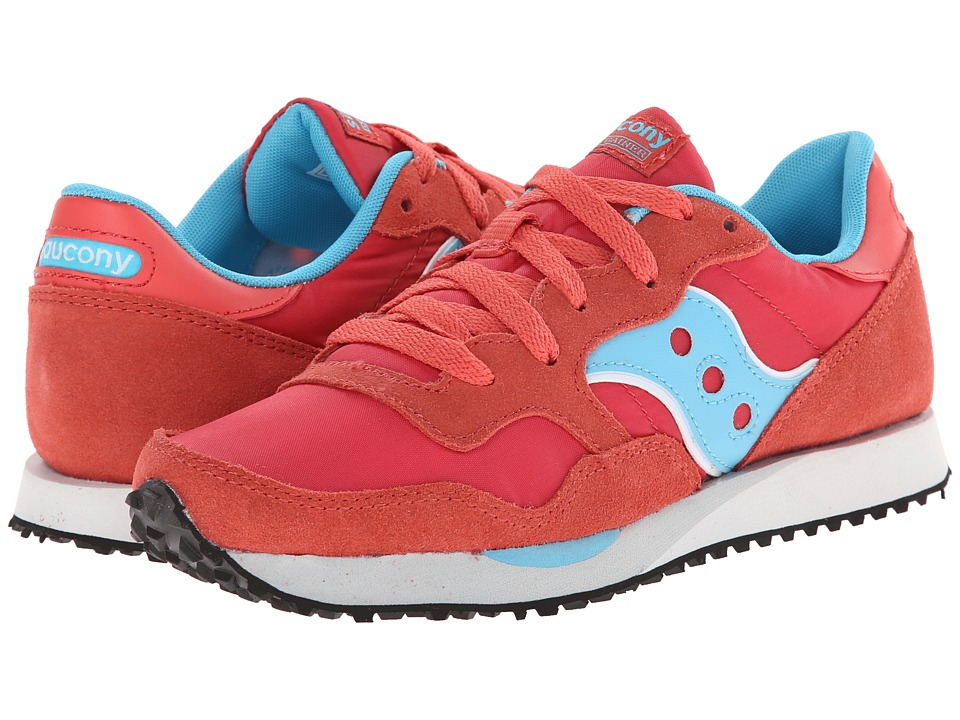 Saucony Originals - DXN Trainer (Red/Light Blue) Women's Lace up casual Shoes