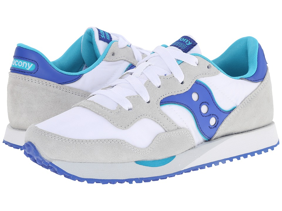 Saucony Originals - DXN Trainer (White/Blue) Women's Lace up casual Shoes