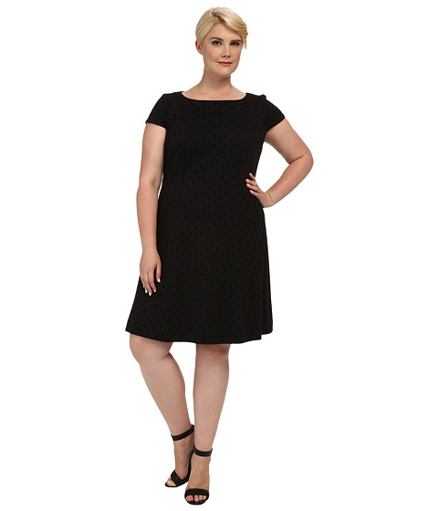 Tahari by ASL Plus - Plus Size Luke Dress (Black) Women