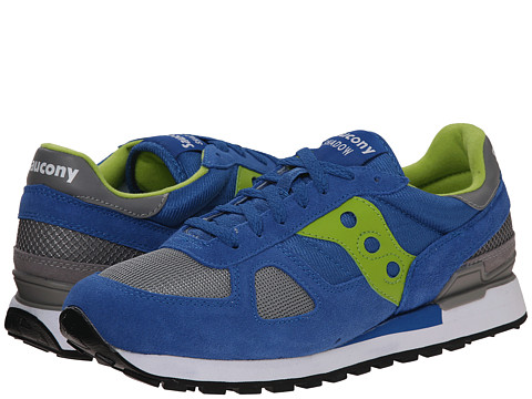 Saucony Originals - Shadow Original (Blue/Bright Green) Men's Classic Shoes