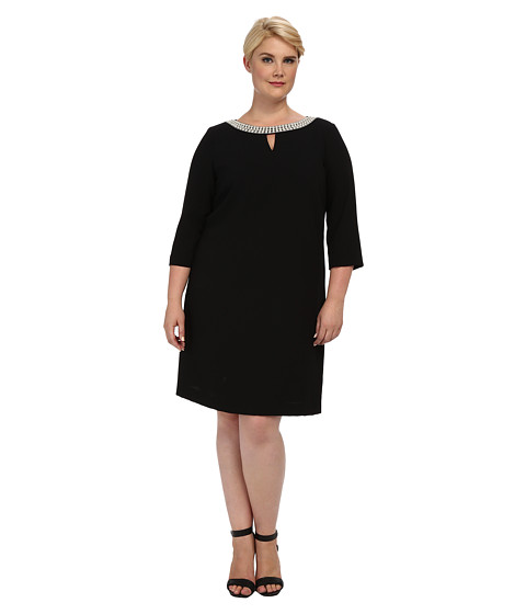 Tahari by ASL Plus - Plus Size Morgan Dress (Black) Women's Dress
