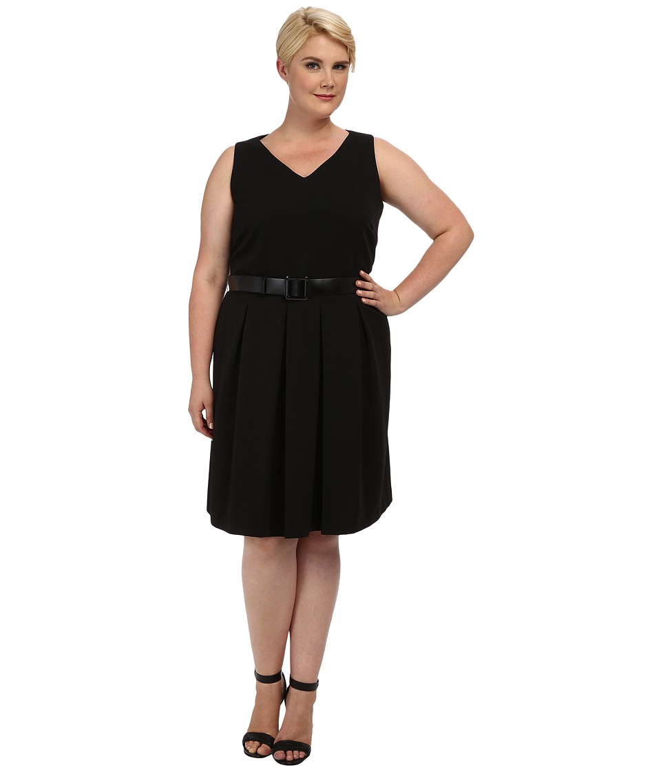 Tahari by ASL Plus - Plus Size Nelson Dress (Black) Women's Dress