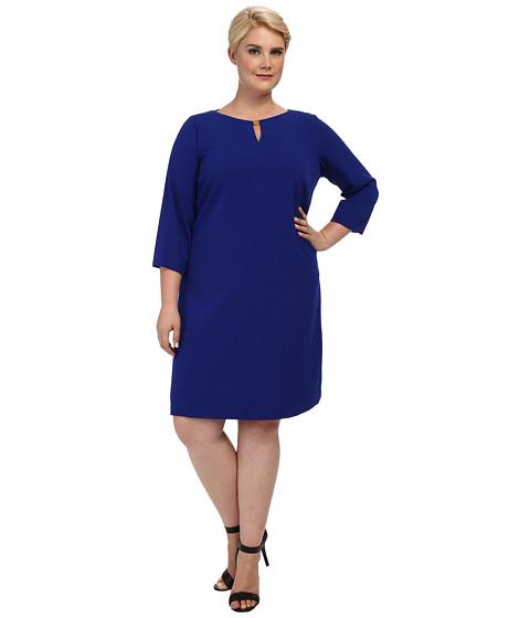 Tahari by ASL Plus - Plus Size James Dress (Cobalt/Cobalt/Academy) Women's Dress