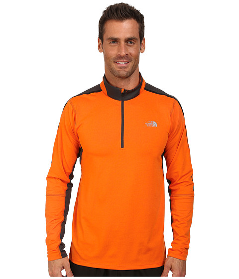 The North Face - Kilowatt 1/4 Zip (Persian Orange Heather/Asphalt Grey) Men's Long Sleeve Pullover
