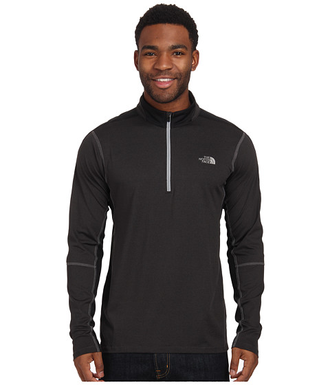 The North Face - Kilowatt 1/4 Zip (Asphalt Grey Heather/TNF Black) Men's Long Sleeve Pullover