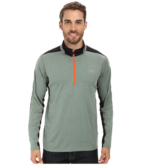 The North Face - Kilowatt 1/4 Zip (Laurel Wreath Green Heather/TNF Black) Men
