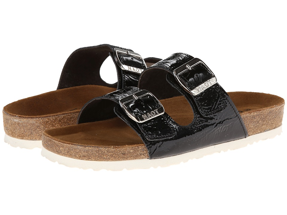 Naot Footwear - Santa Barbara (Black Crinkle Patent) Women's Sandals