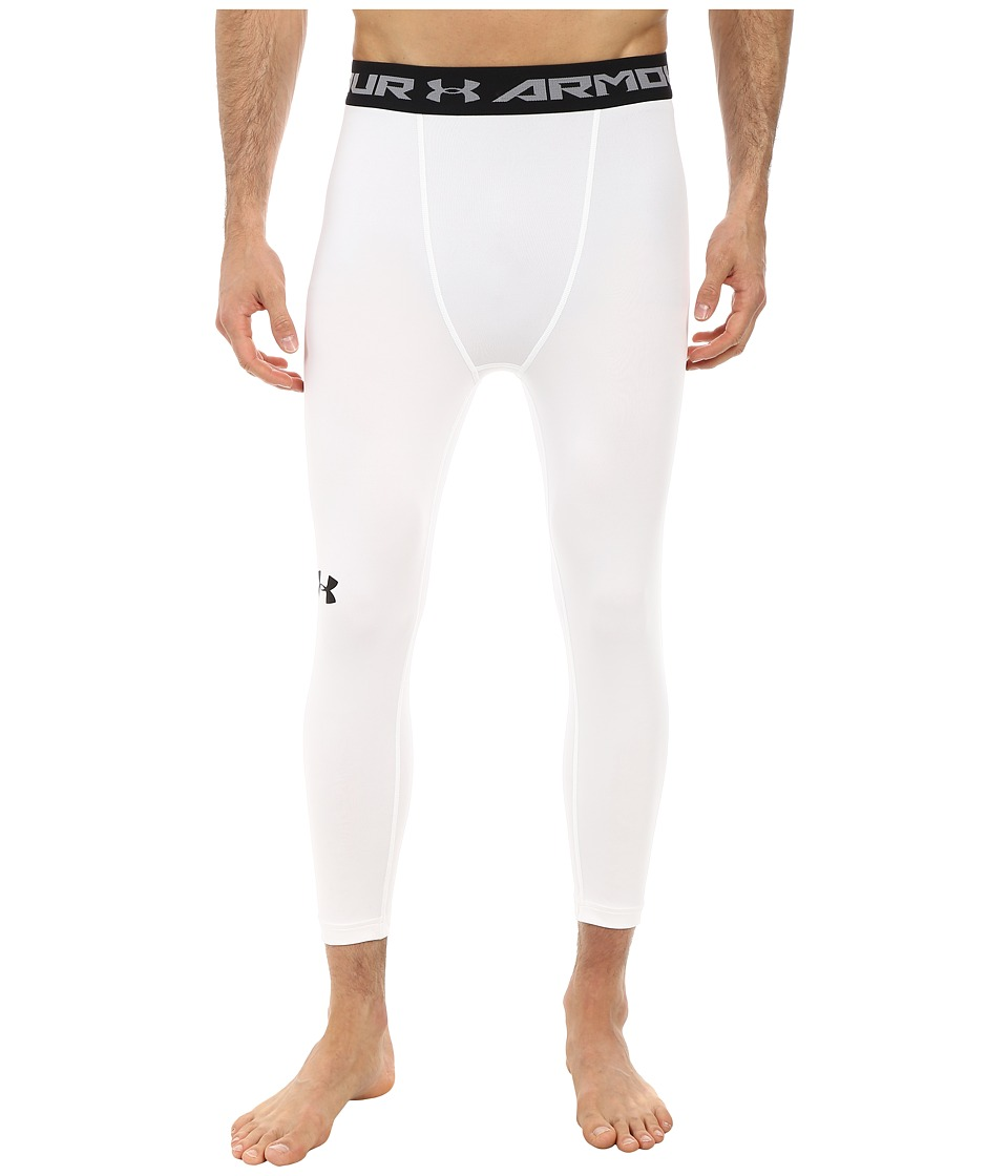 Under Armour - Armour(r) Heatgear(r) 3/4 Comp Legging (White/Steel/Black) Men's Casual Pants