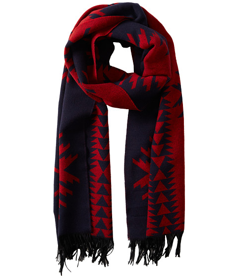 Pendleton - Thomas Kay Plaid Muffler (Navy/Red) Scarves