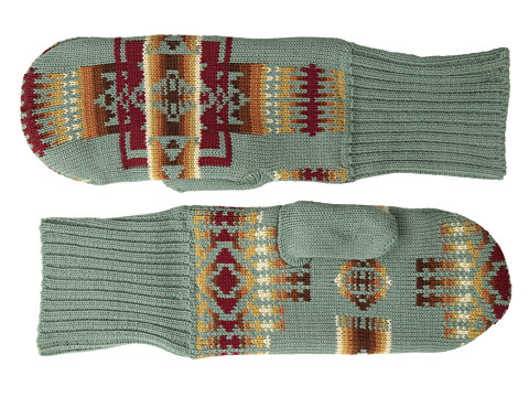 Pendleton - Mitten w/ Fleece Lining (Chief Joseph Sage) Wool Gloves