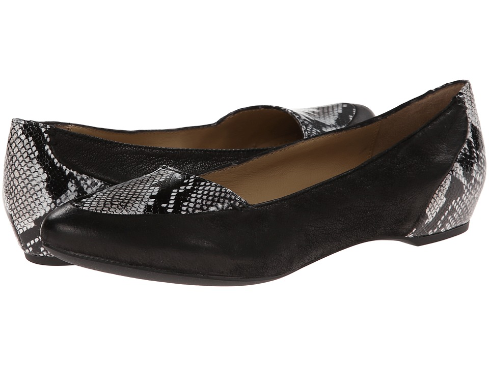 Geox - D Leslie (Grey/Black) Women's Slip on Shoes