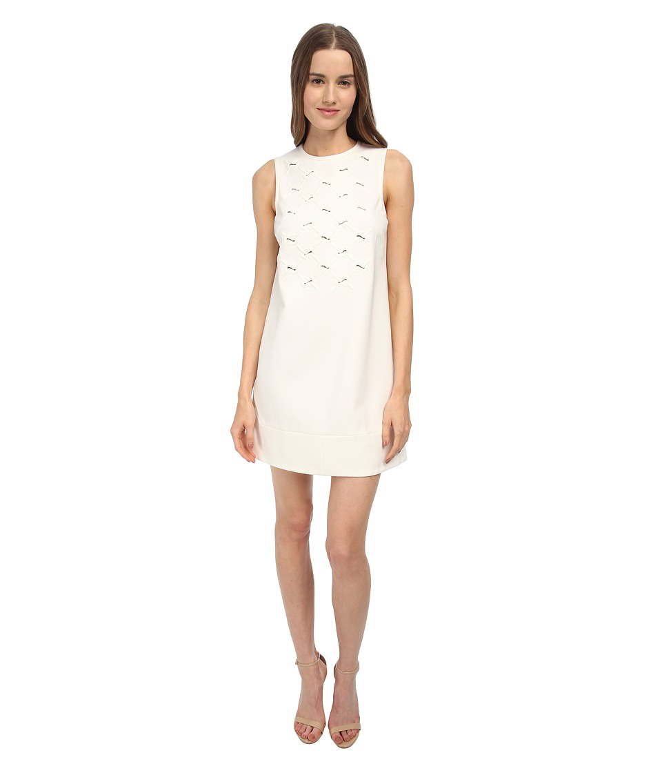 tibi - Shift Dress (Ivory) Women's Dress