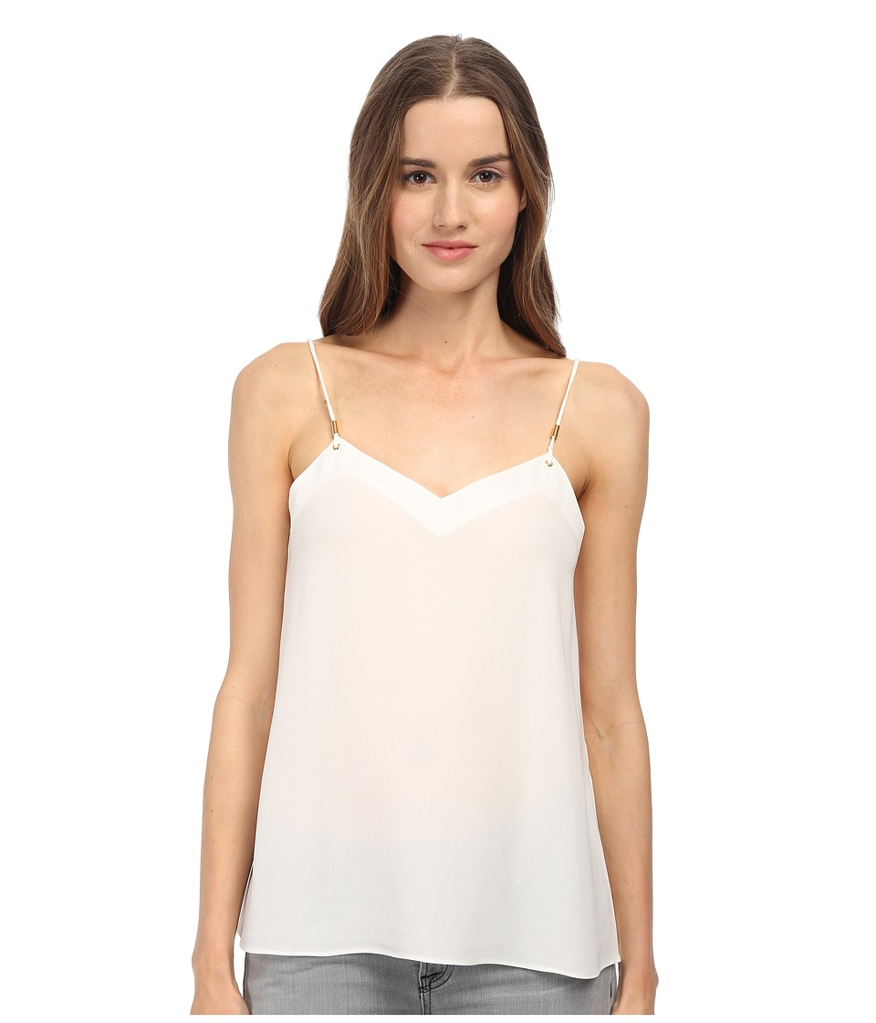 tibi - Cami w/ Knot Detail (White) Women's Sleeveless