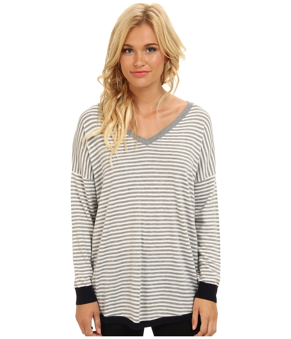 Joie - Talida (Heather Grey/Porcelain) Women's Long Sleeve Pullover