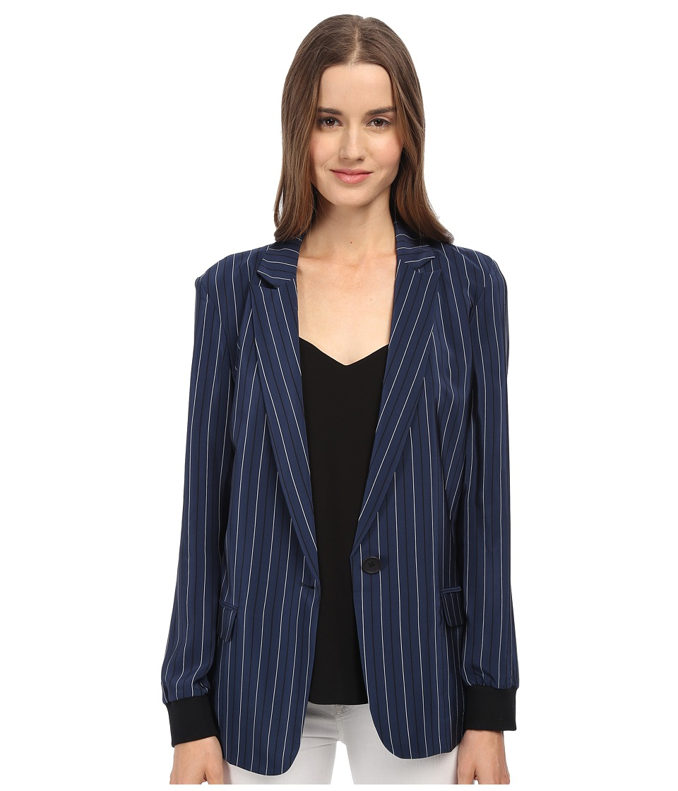 tibi - Blazer (Navy Multi) Women's Jacket