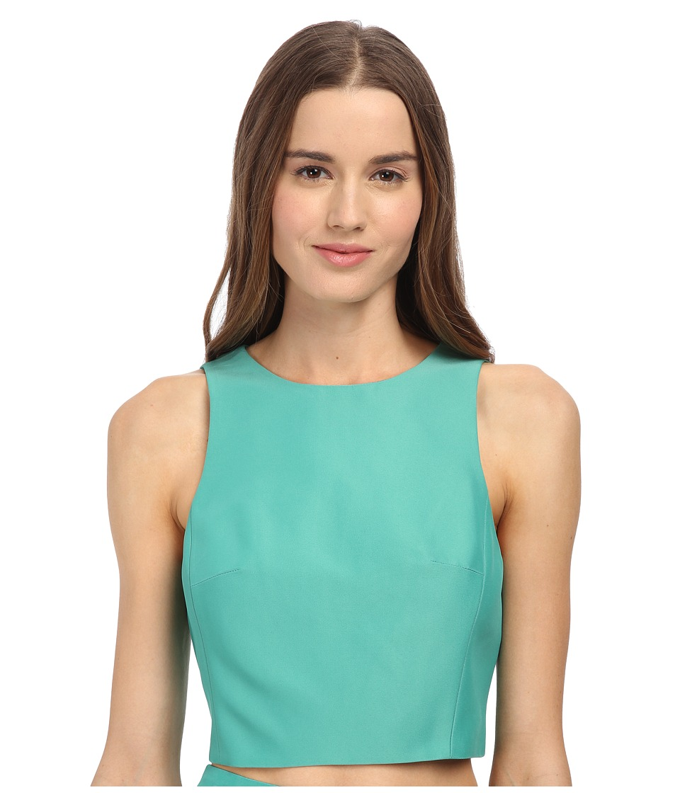 tibi - Cropped Top (Underwater Green) Women