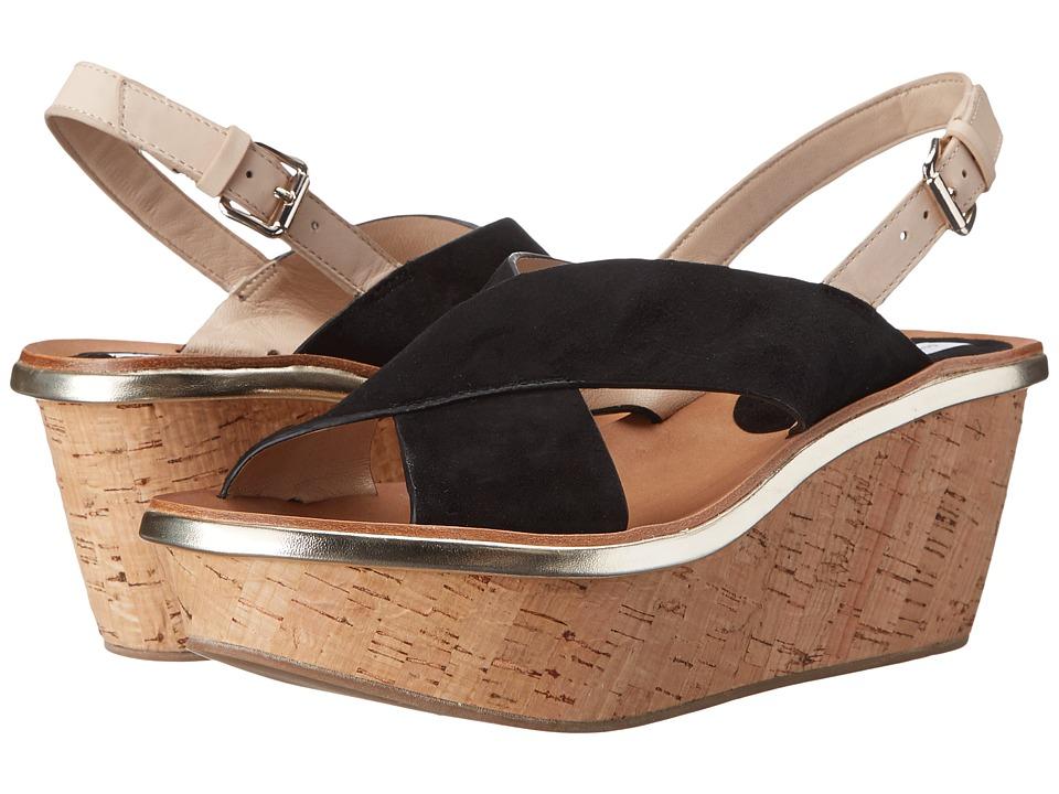 Diane von Furstenberg - Maven (Black Kid Suede/Nude Vacchetta) Women's Shoes